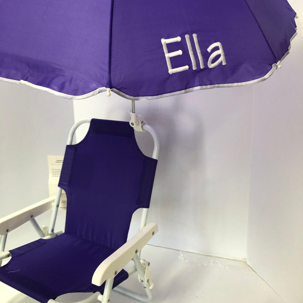 Miraculous Kids Beach Chair With Umbrella Purple Customarchery Wood Chair Design Ideas Customarcherynet