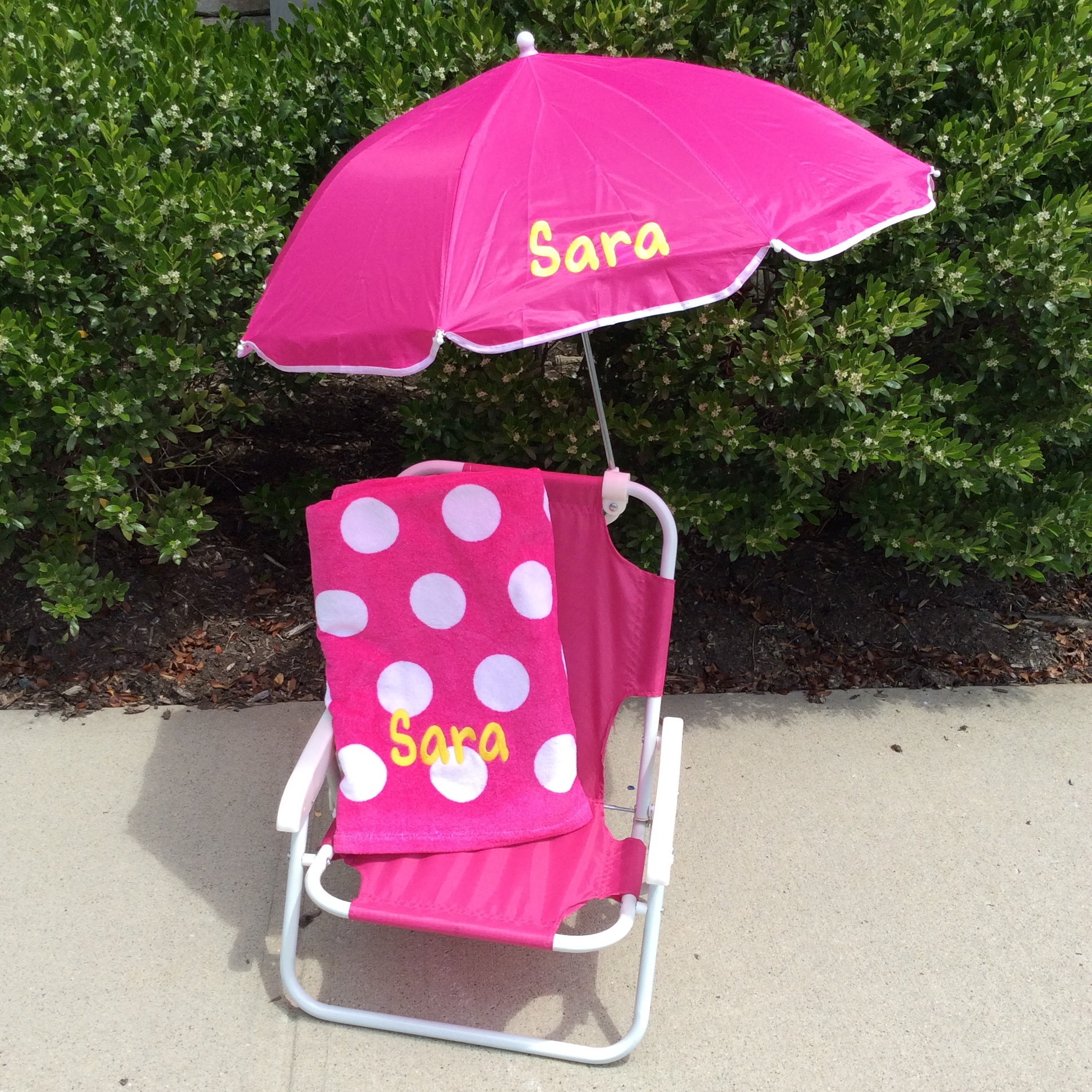 Kids Beach Chair With Umbrella Purple